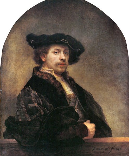 496px Self portrait at 34 by Rembrandt Growing old artistically