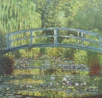 Monet Japanese Bridge Growing old artistically