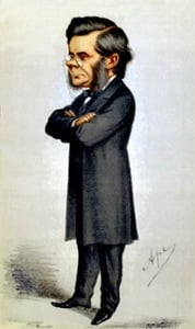 A caricature of Thomas Huxley, from a 19th Century edition of Vanity Fair.